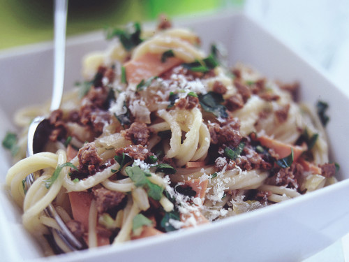 Quorn Meat Free Mince Spaghetti Carbonara