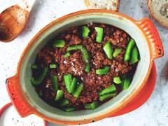 Vegetarisk grön gulasch -recept