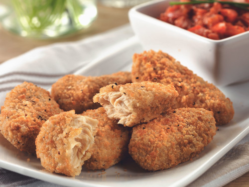 Quorn Southern Fried Bites with Red Pepper Relish