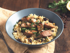Quorn Meatless Chicken & Apple Sausages Couscous
