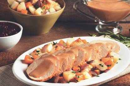 quorn celebration roast vegetarian christmas recipe