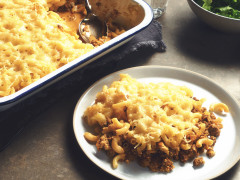 Mac 'n'cheese med Quorn-farse