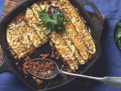 Vegetarischer Zucchini-Quorn-Auflauf