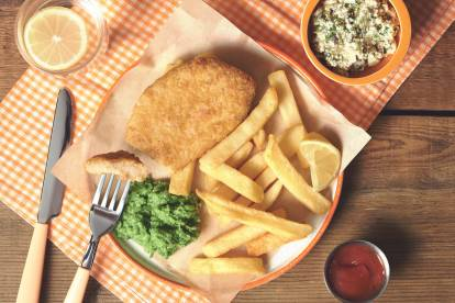 Vegan Battered Fish and Chips