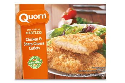 Meatless Chicken and Sharp Cheese Cutlets