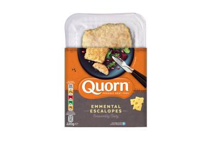 meat free quorn emmental escalope