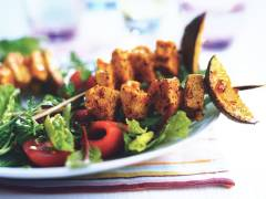 Indian Tikka Skewers with Salad