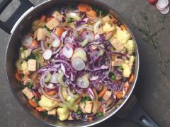 Hochepot revisité / Plat à base de purée de pommes de terre et de chou / Haché aux dés de Quorn