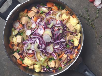 Kartoffel-Radieschen-Eintopf mit Quorn Geschnetzeltem