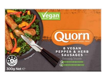 Quorn Vegan Pepper & Herb Sausages