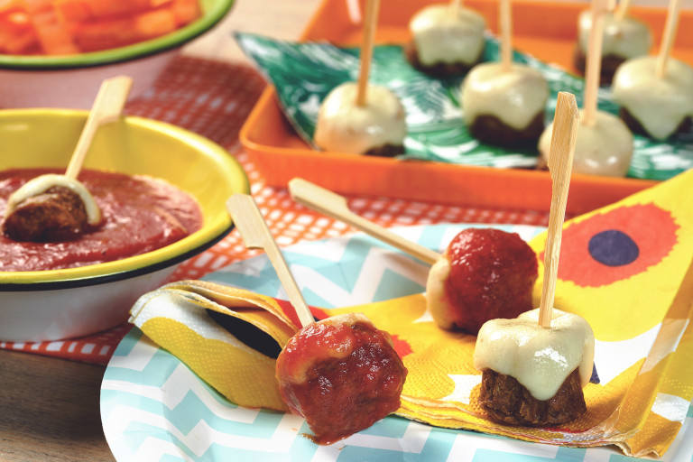 quorn cheesy meatballs with tomato dip meat-free recipe