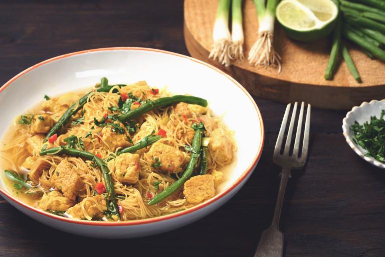 laksa with quorn pieces vegetarian recipe
