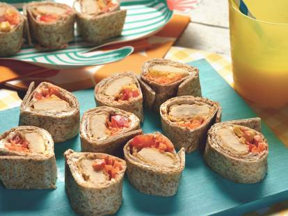 quorn crispy nugget tortilla roll ups vegetarian recipe