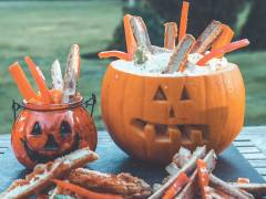 scary quorn dippers vegetarian halloween recipe