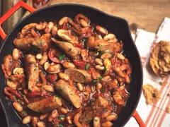 quorn sausage casserole with beans vegetarian recipe