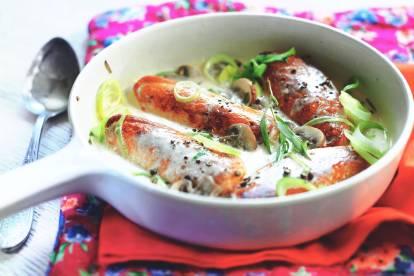 Recette de Poulet Végétarien à l'Estragon et au Vermouth