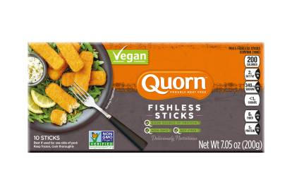 frozen quorn vegan fishless fingers