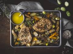 Quorn Pepparstek med ugnsrostade grönsaker
