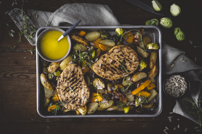 Quorn Peppered Steak with Vegetables