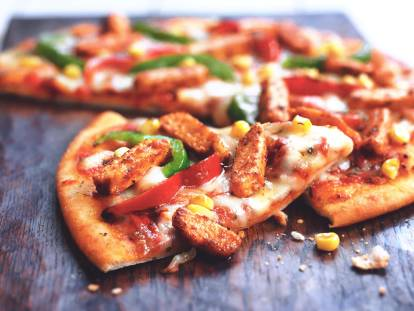 mexican pizza with quorn pieces vegetarian recipe
