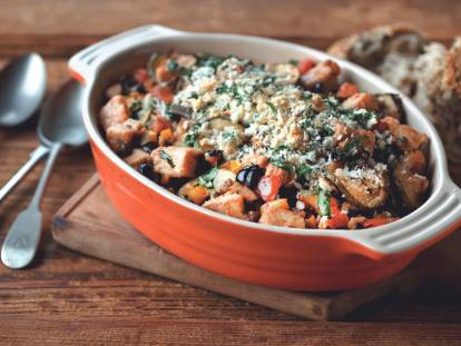 ratatouille with quorn meatless pieces vegetarian recipe