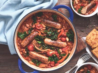 quorn sausage and bean stew vegetarian recipe