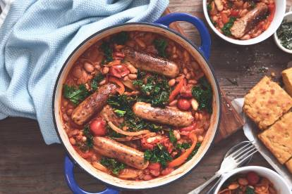 quorn sausage and bean stew vegetarian recipe