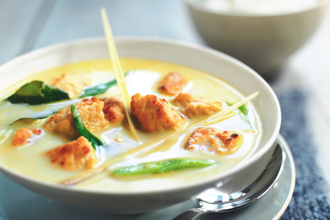 Thai Green Coconut Curry Recipe with Quorn Pieces