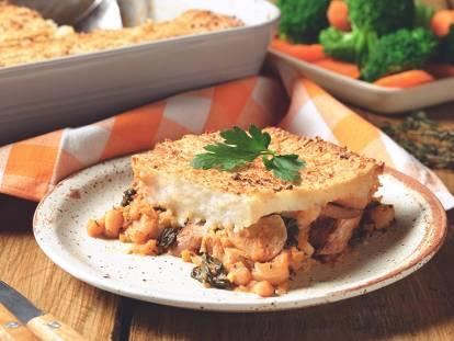 Veggie Sausage and Bean Pie Recipe