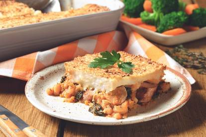 Veggie Sausage and Bean Pie Recipe