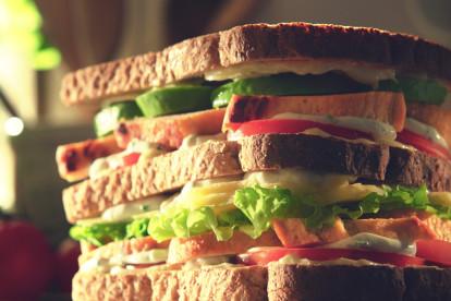 quorn fillets new york club sandwich vegetarian recipe