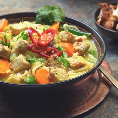 Thai Noodle Soup Recipe with Quorn Vegan Pieces