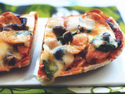 quorn sausages & mozzarella on ciabatta vegetarian sandwich recipe