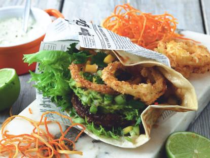 Mexicaanse fiestaburger met pittigemayo