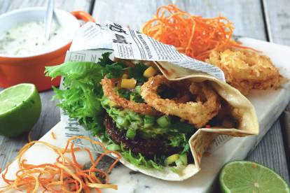 Vegetarisk hamburgare (lakto ovo) - Flexitarian Fiesta - recept