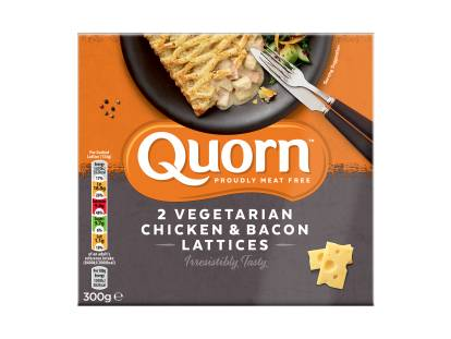 frozen quorn vegetarian chicken & bacon lattice