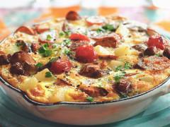 Quorn Sausages Frittata