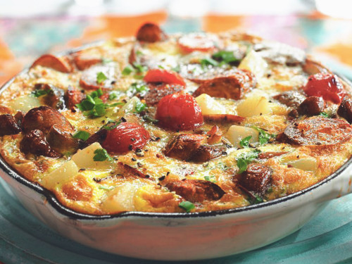 Quorn Meat Free Sausages Frittata