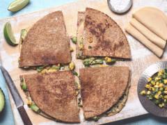 Quorn Gluten Free Vegan Chicken and Jalapeno Corn Salsa Quesadillas