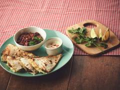 Quesadilla with Chili con Quorn Dip
