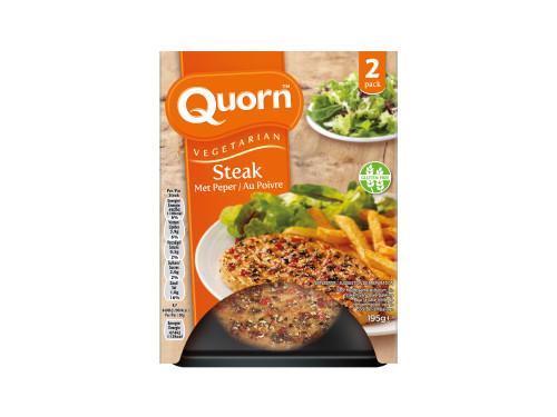 Steak au poivre végétarien