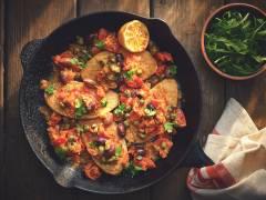 Filetti Quorn con olive taggiasche, pomodorini secchi e capperi