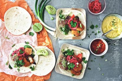 Tex-Mex-Tortillas mit veganen Nuggets