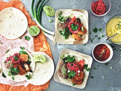 Tortillas tex-mex aux nuggets végétaliens