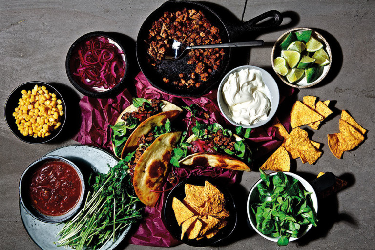 Family Taco Feast with Quorn Mince