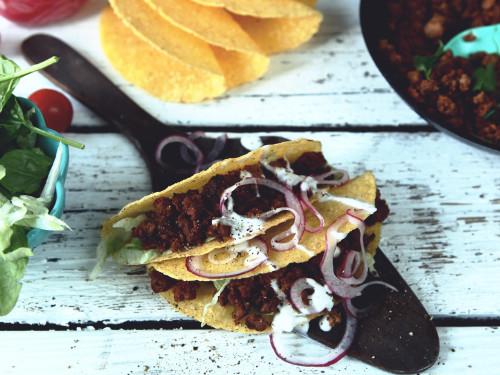 Vegetarisk Taco Feast med Quorn Färs