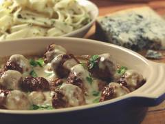 quorn swedish style balls in blue cheese sauce vegetarian recipe