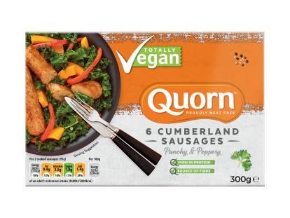 frozen quorn vegan cumberland sausages