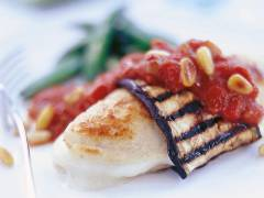 quorn fillets with aubergine & mozzarella vegetarian recipe
