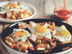Quorn Meatless Roast Leftovers Breakfast Hash